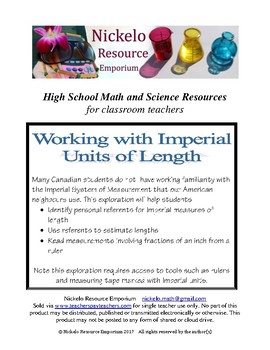 Working with Imperial Units of Length Exploration
