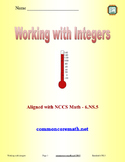 Working with Integers - 6.NS.5