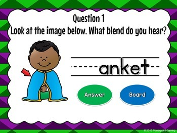Working with L Blends - Find the Star Powerpoint Game