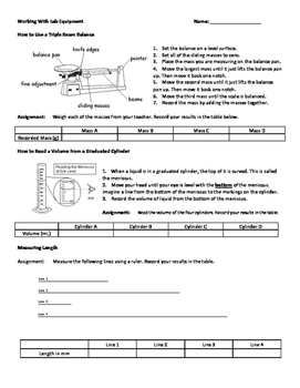 Working with Lab Equipment - Measurement Review