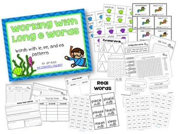 Working with Long Vowel Pattern Words BUNDLE