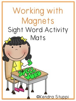 Working with Magnets - Sight Word Activity Mats
