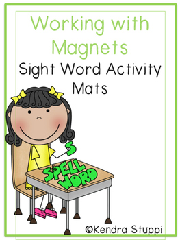 Working with Magnets - Sight Word Activity Mats {Fry - First 50 Words}