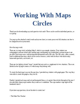 Working with Maps - Circles Practice (Editable)