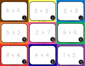 Working with Multiplication Arrays Task Cards