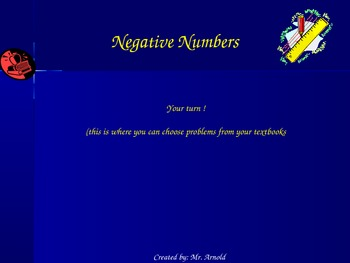 Working with Negative numbers