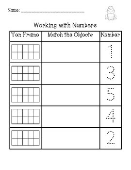 Working with Numbers 0 to 10