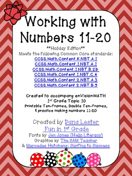 Working with Numbers 11-20 Holiday Edition