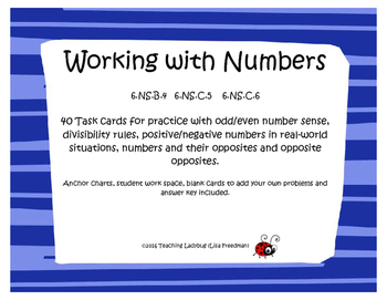 Working with Numbers Task Cards - 6th Grade