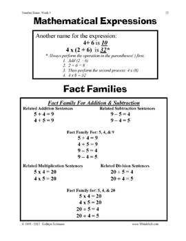 Teaching Number Sense - Daily Math Worksheets - Common Core Math