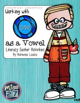 Working with OW {like cow} Centers aligned to Common Core + craftivity