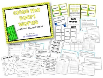 Working with Open and Closed 2-Syllable Words BUNDLE