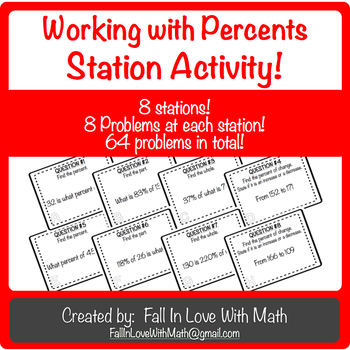 Working with Percents Station Activity!