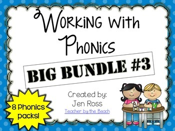 Working with Phonics and Grammar: BIG BUNDLE #3