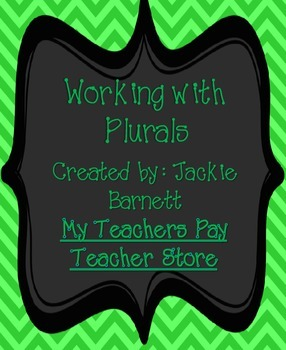 Working with Plurals CCSS Aligned