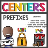Working with Prefixes re and un Centers and Word Working Activities