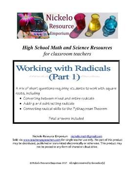 Working with Radicals (Part 1)