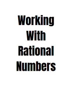 Working with Rational Numbers Foldable