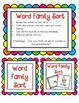 Working with Short a Word Families CVC center activities assessment sheets