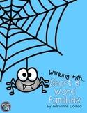 Working with Short e Word Families CVC center activities assessment sheets