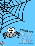 Working with Short e Word Families CVC center activities a