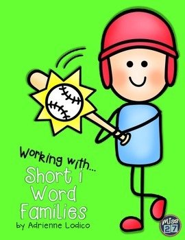 Working with Short i Word Families CVC center activities assessment sheets