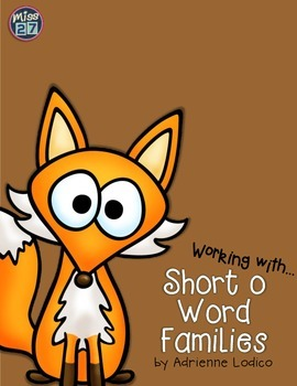 Working with Short o Word Families CVC center activities a