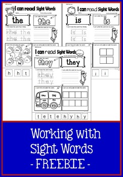 Working with Sight Words FREEBIE