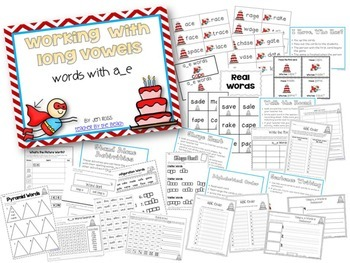 Working with Silent E Words BUNDLE