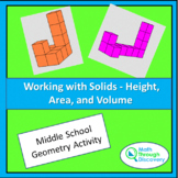 Geometry - Working with Solids - Height, Area, and Volume