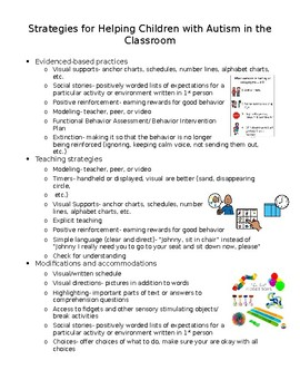Working with Students with Autism Handout