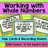 Standard Form, Word Form and Expanded Form Task Cards