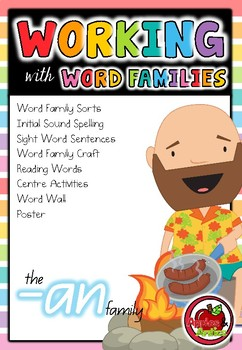 Working with Word Families: -an word family