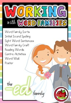 Working with Word Families: -ed word family