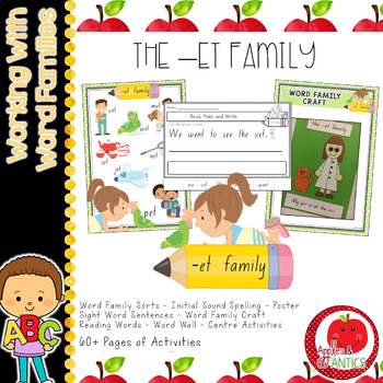 Working with Word Families: -et word family