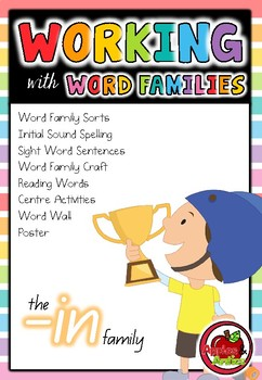 Working with Word Families: -in word family