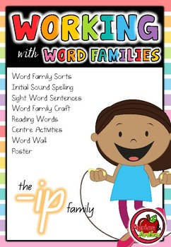 Working with Word Families: -ip word family