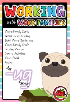Working with Word Families: -ug word family