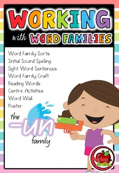 Working with Word Families: -un word family