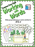 Working with Words Phonics  Sounds of al and all Common Core Style