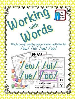 Working with Words Phonics ew ui oo u by Ms Smarty Pants ...