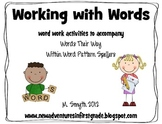 Working with Words- a Words Their Way Supplement featuring