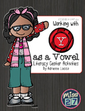 Working with Y as a Vowel Center Activities Common Core RF Standards