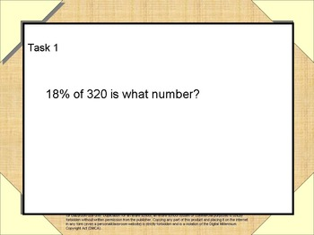 Working with fractions, decimals, and percents Task Cards