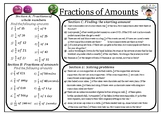 Working with fractions of amounts