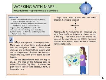 Working with maps - Introduction to map elements and symbols