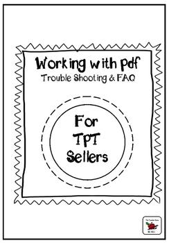 Working with pdf - Trouble Shooting and FAQ for Sellers