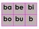 Working with syllables/ Trabajando con sílabas