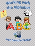 Working with the Alphabet Free Sample Packet