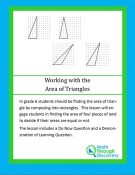 Working with the Area of Triangles